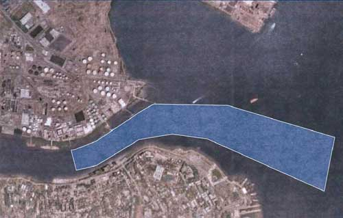 Dredging area:  click to enlarge